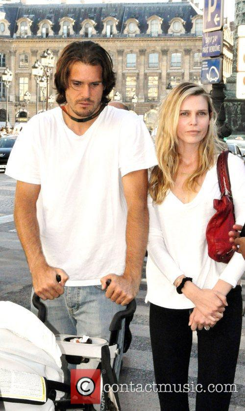 Tommy Haas and Sara Foster  outside the...