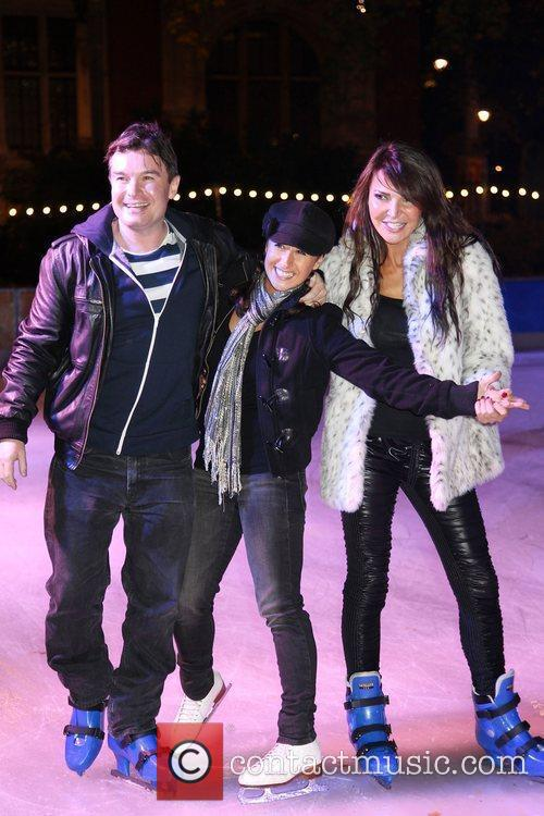 Greg Burns, Hayley Tamaddon and Lizzie Cundy,...