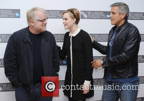 Philip Seymour Hoffman, Evan Rachel Wood, George Clooney and Odeon West End 2