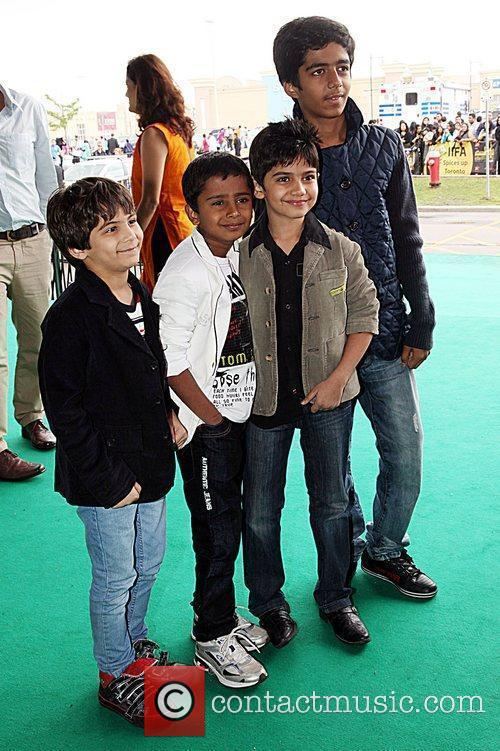 Cast members  'Chillar Party' premiere at the...