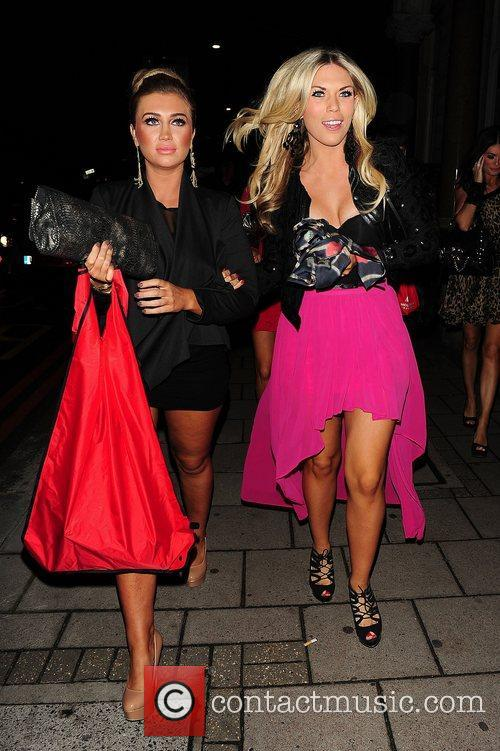 Lauren Goodger and Frankie Essex at party held...