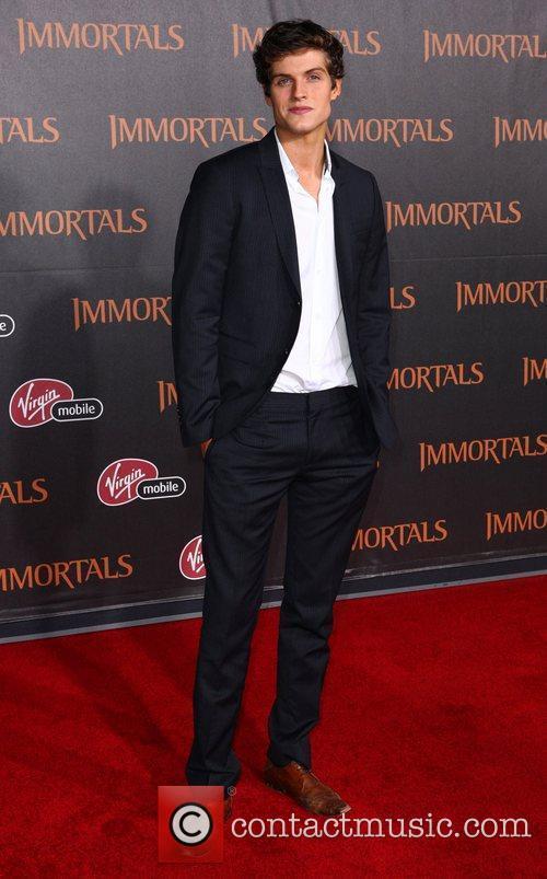 Daniel Sharman 'Immortals 3D' Los Angeles premiere at...