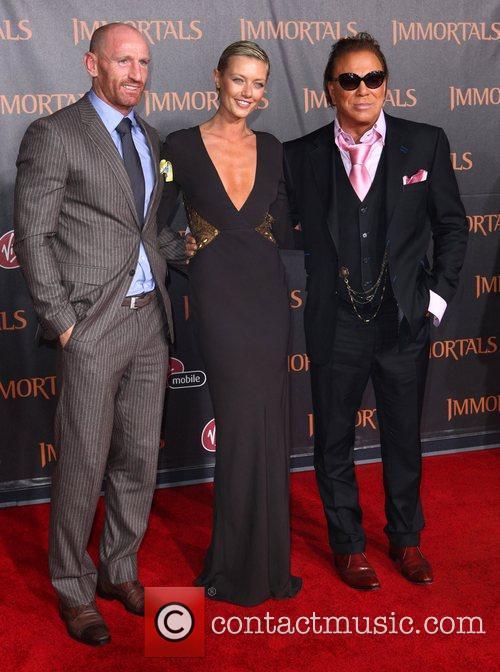 Guest, Mickey Rourke and Anastassija Makarenko 'Immortals 3D'...