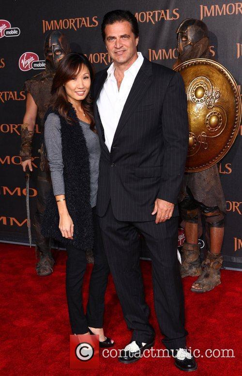 John Enos and Guest 'Immortals 3D' Los Angeles...