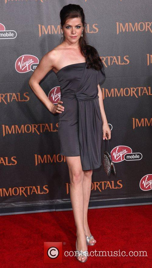 Kaniehtiio Horn 'Immortals 3D' Los Angeles premiere at...