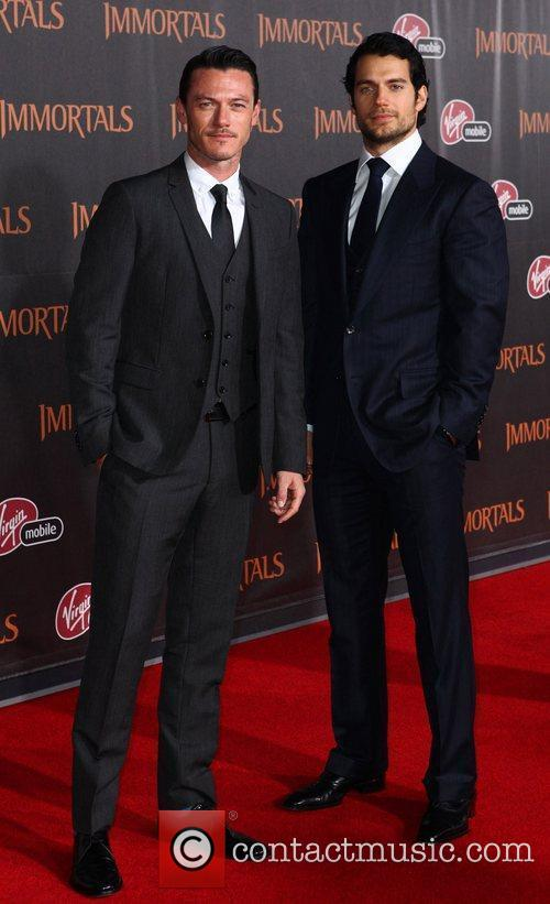 Luke Evans and Henry Cavill 2