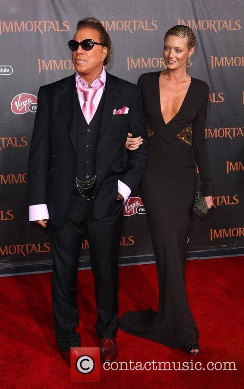 Mickey Rourke and Anastassija Makarenko 'Immortals 3D' Los...
