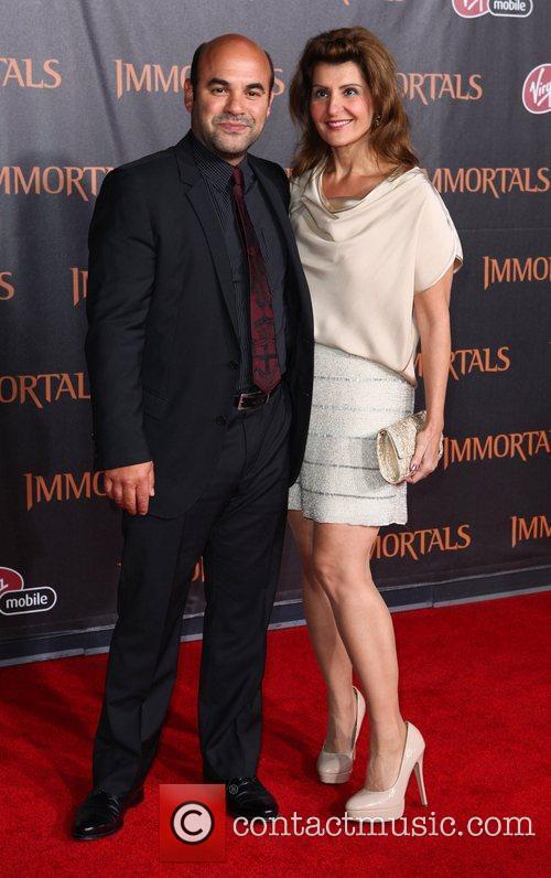 Nia Vardalos and Guest 'Immortals 3D' Los Angeles...