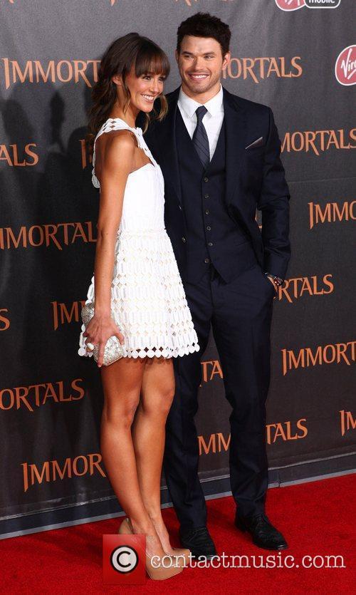 Sharni Vinson and Kellan Lutz 'Immortals 3D' Los...