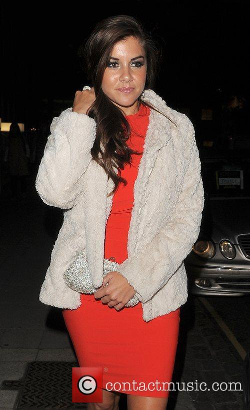 Imogen Thomas enjoys an evening out in Chelsea.