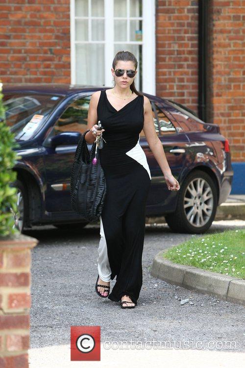 Imogen Thomas leaving her home London, England
