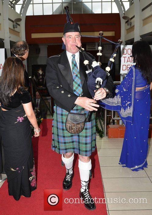 Joe O'Donnell (piper),  at the opening of...