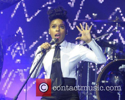Janelle Monae  performing on stage at the...
