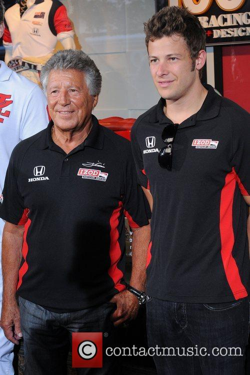 Mario Andretti and Marco Andretti Macy's celebrates the...