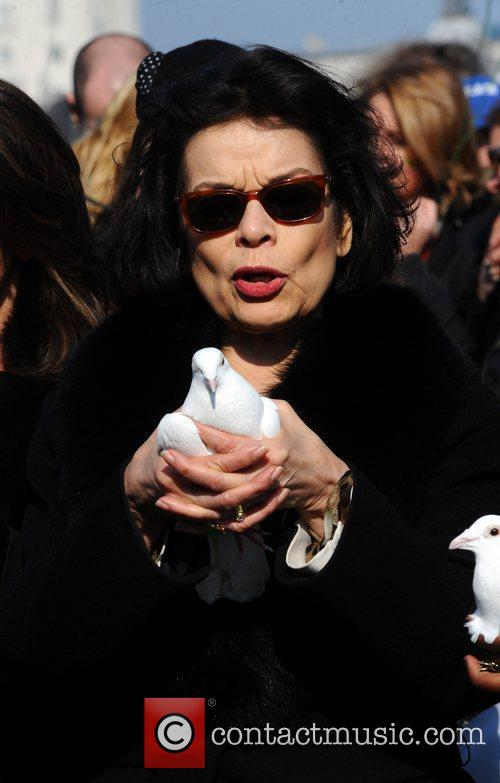 Bianca Jagger  attend photocall ahead of a...