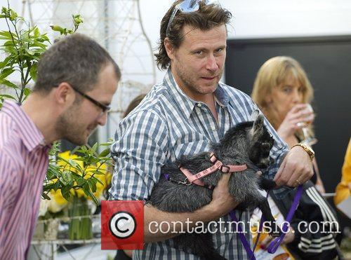 Dean Mcdermott holds Juliet the Goat Dean Mcdermott...