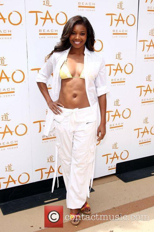 Gabrielle Union TAO Beach Season Opening with supermodel...