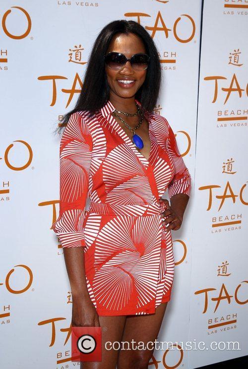 Garcelle Beauvais TAO Beach Season Opening with supermodel...