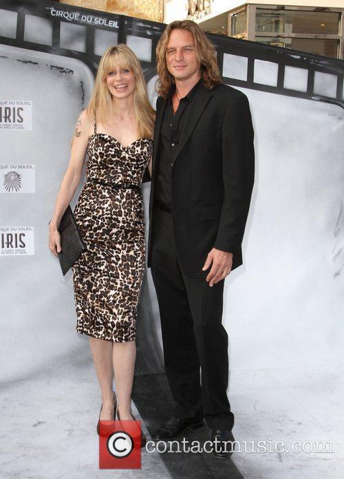 Kristin Bauer and Abri van Straten Premiere of...