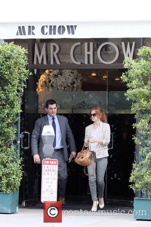 Exits Mr. Chow in Beverly Hills after having...