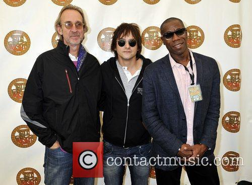Mike Rutherford, Tim Howar and Andrew Roachford of...