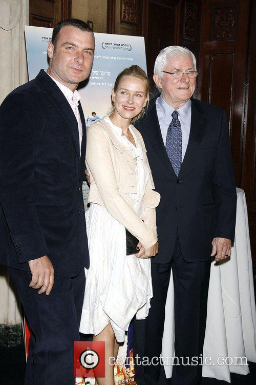 Liev Schreiber, Naomi Watts and Phil Donahue...