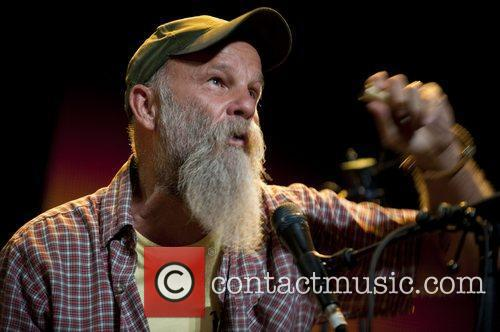 Seasick Steve playing at the Roundhouse in London...