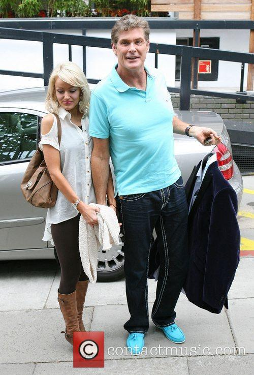 David Hasselhoff and Hayley Roberts at the ITV...