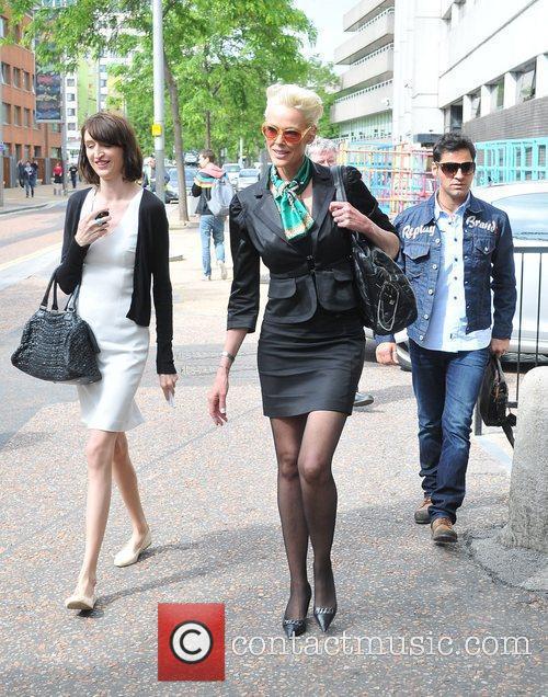 Brigitte Nielsen arrives at the ITV studios ahead...
