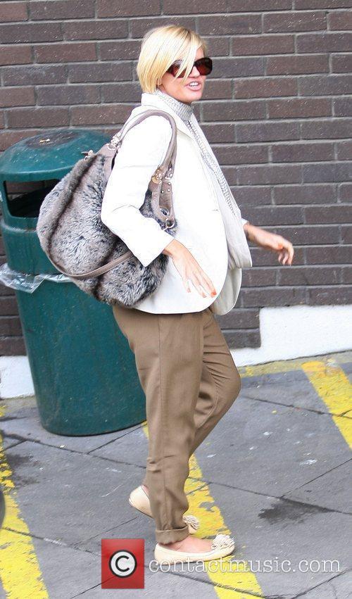 Kerry Katona outside the ITV studios London, England