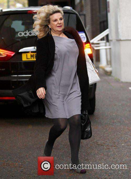 Ann Mitchell at the ITV studios London, England
