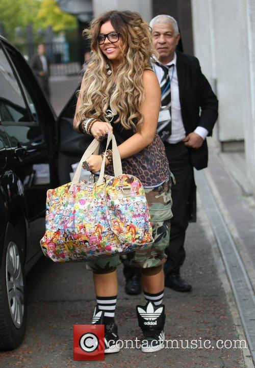'X Factor' finalist Jesy Nelson outside the ITV...