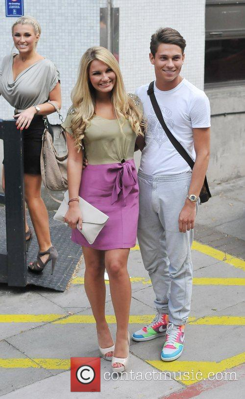 Joey Essex and Sam Faiers  outside the...