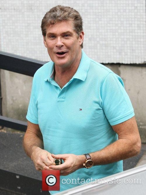 David Hasselhoff at the ITV studios London, England