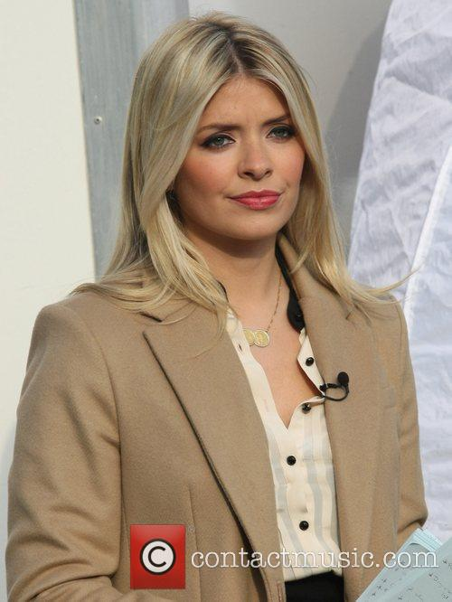 Holly Willoughby filming for This Morning at the...