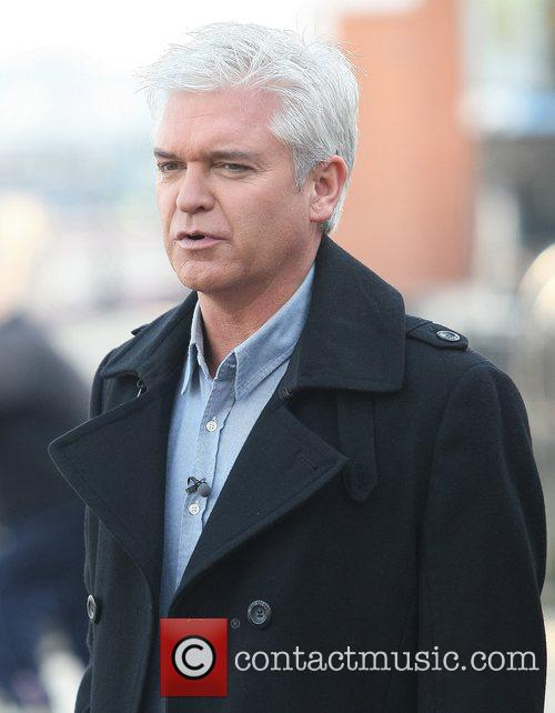 Phillip Schofield filming for This Morning at the...