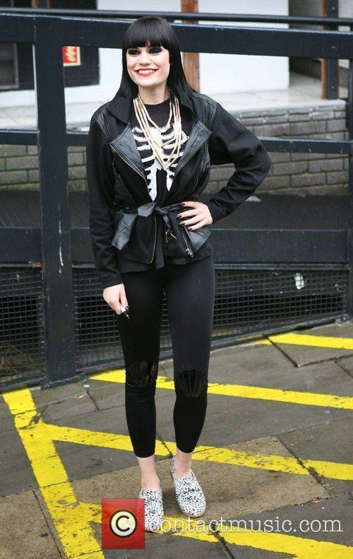 Jessie J leaves the ITV studios after appearing...