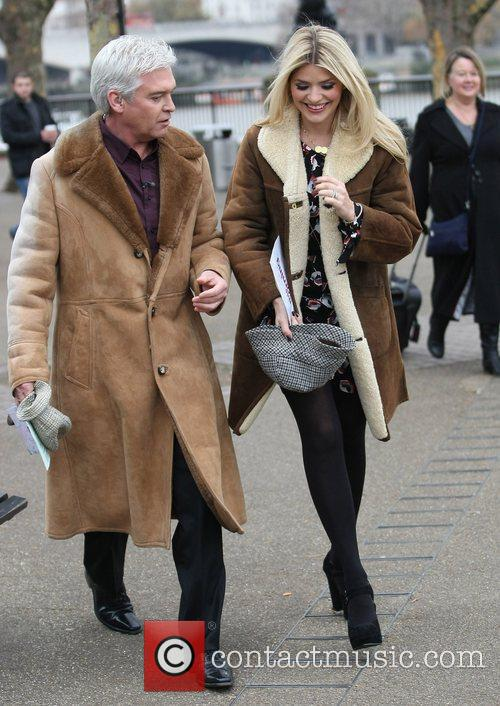 Phillip Schofield and Holly Willoughby at the ITV...
