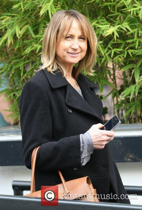 Carol McGiffin Celebrities outside the ITV television studion...