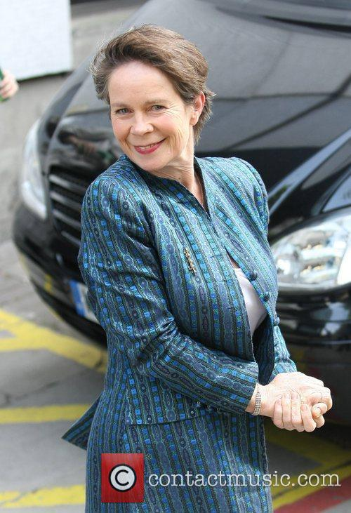 Celia Imrie Celebrities outside the ITV television studion...