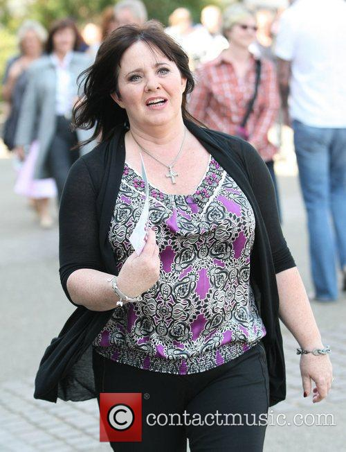 Coleen Nolan Celebrities outside the ITV television studios...