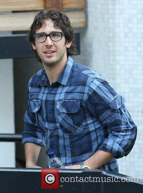 Josh Groban Celebrities outside the ITV television studios...