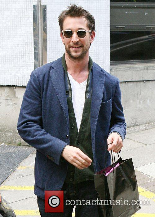 Noah Wyle leaves the ITV studios London, England