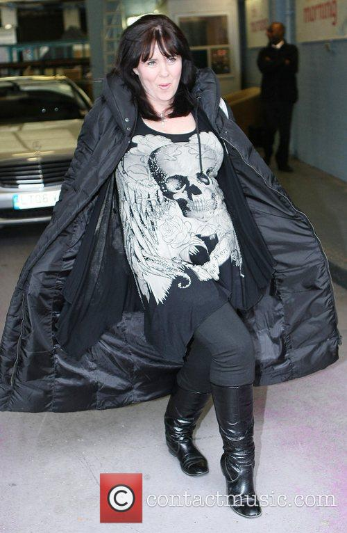Coleen Nolan leaving the ITV studios after presenting...