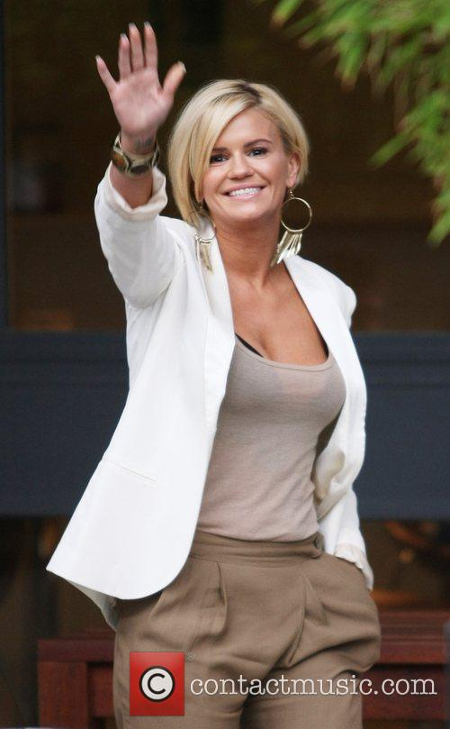 Kerry Katona leaving the ITV studios after appearing...
