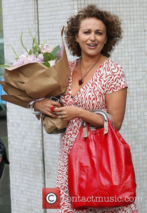 Nadia Sawalha at the ITV studios London, England