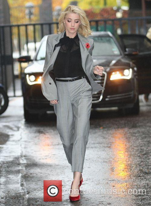Amber Heard at the ITV studios London, England
