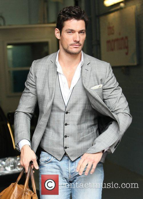 David Gandy Celebrities outside the ITV television studios...