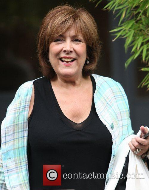 Lynda Bellingham Celebrities outside the ITV television studios...