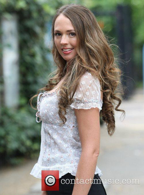 Victoria Shelley Celebrities outside the ITV television studios...
